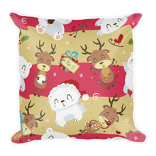 Load image into Gallery viewer, Polar Bear And Rudolf Premium Pillow
