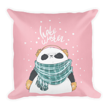 Load image into Gallery viewer, Hate Winter Panda Premium Pillow