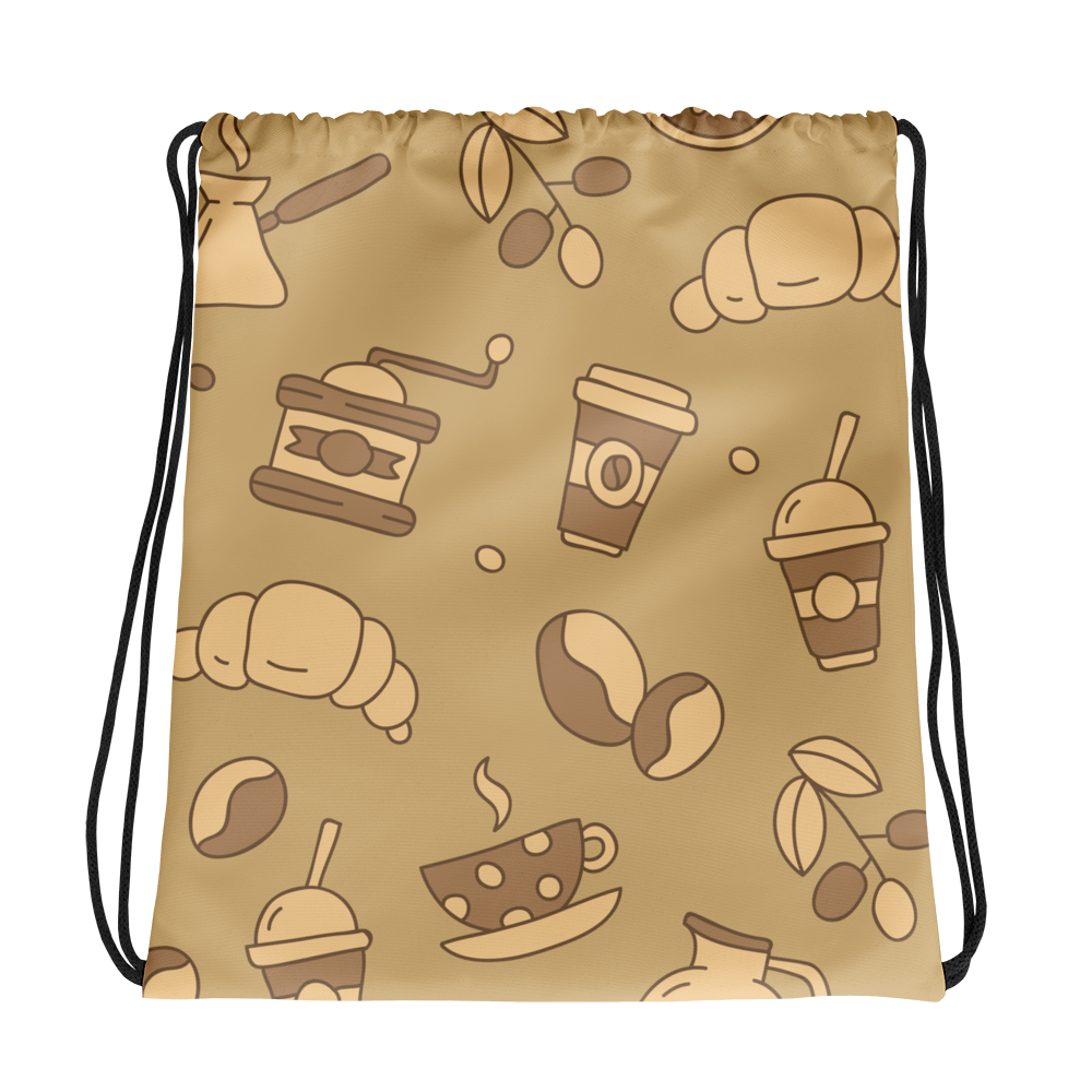 Mocha Coffee Drawstring bag