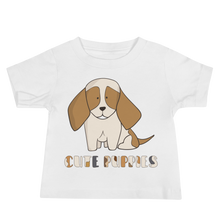 Load image into Gallery viewer, Cute Puppies Baby Tee's