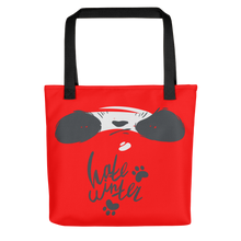 Load image into Gallery viewer, Hate Winter Smirk Panda Tote bag