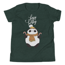 Load image into Gallery viewer, Happy Holiday Panda Youth Tee's