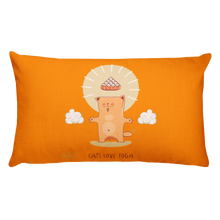 Load image into Gallery viewer, Cats Love Yoga Premium Pillow