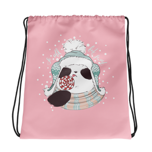 So Cold But Sweet Panda Drawstring bag