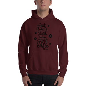 Great Ideas Start With Great Coffee Men's Hoodies