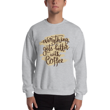 Load image into Gallery viewer, Everything Gets Better With Coffee Men's Sweatshirt