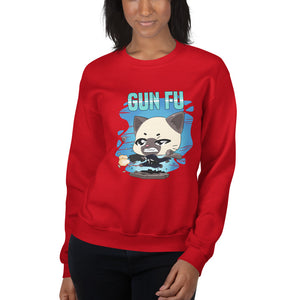 Cat Wick Gun Fu Women's Sweatshirt