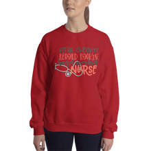 Load image into Gallery viewer, Hard Working Nurse Women's Sweatshirt