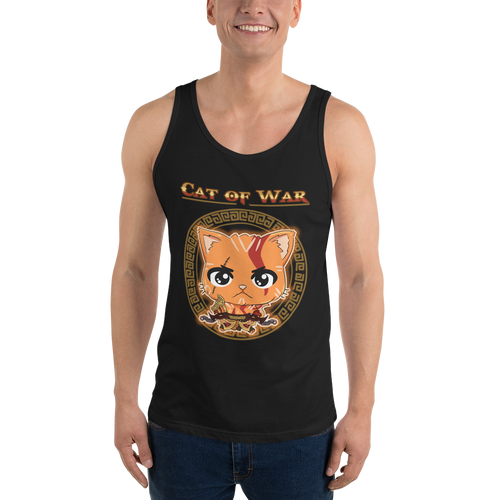 Cat Of War Men's Tank Tops