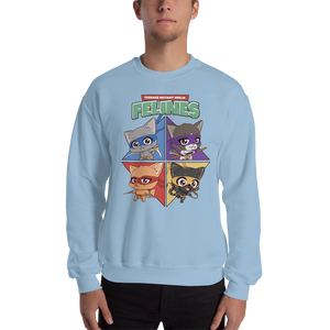 Teenage Mutant Ninja Felines Men's Sweatshirt