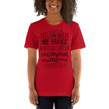 Load image into Gallery viewer, Philippians 4:13 Women's Tee's