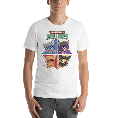 Teenage Mutant Ninja Felines Men's Tee's
