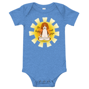 Be Happy With Yoga Baby Bodysuit