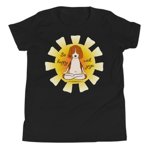 Be Happy With Yoga Youth Tee's