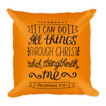 Load image into Gallery viewer, Philippians 4:13 Premium Pillow