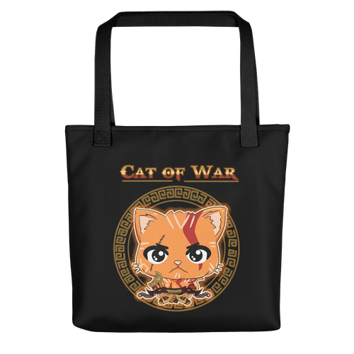 Cat Of War Tote bag