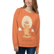 Load image into Gallery viewer, Cats Love Yoga Sweatshirt