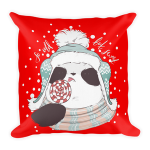 So Cold But Sweet Panda Premium Pillow
