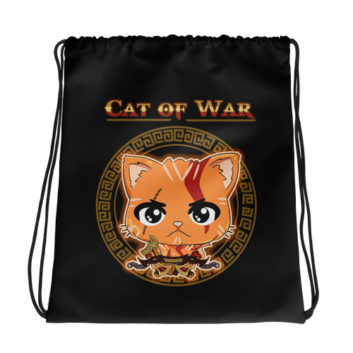 Cat Of War Drawstring Bag