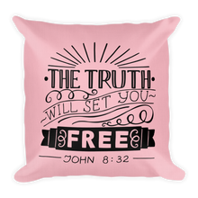 Load image into Gallery viewer, John 8:32 Premium Pillow