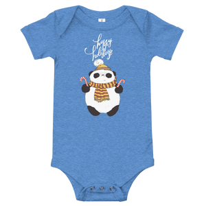 Happy Holiday Panda Baby Bodysuit