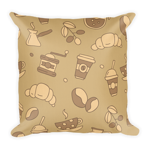 Mocha Coffee Premium Pillow