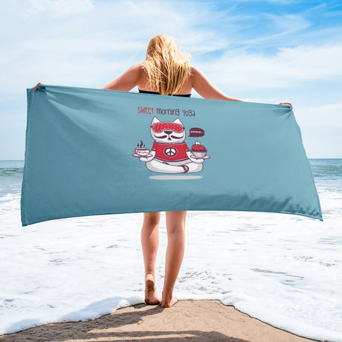 Sweet Morning Yoga Beach Towel
