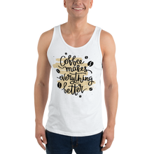 Load image into Gallery viewer, Coffee Makes Everything Better Men's Tank Tops