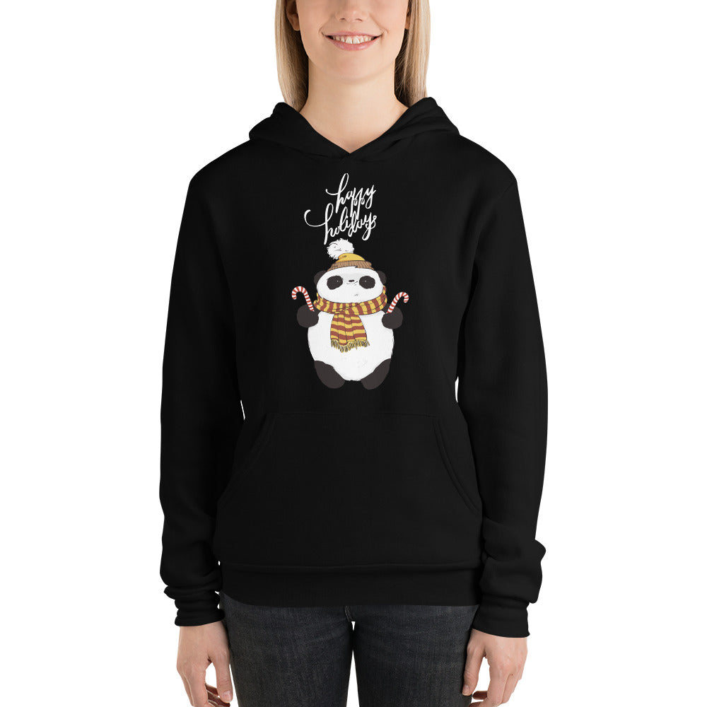 Happy Holiday Panda Women's Hoodies