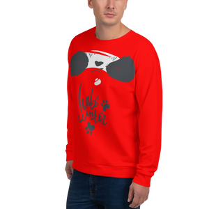 Hate Winter Smirk Panda Men's Sweatshirt