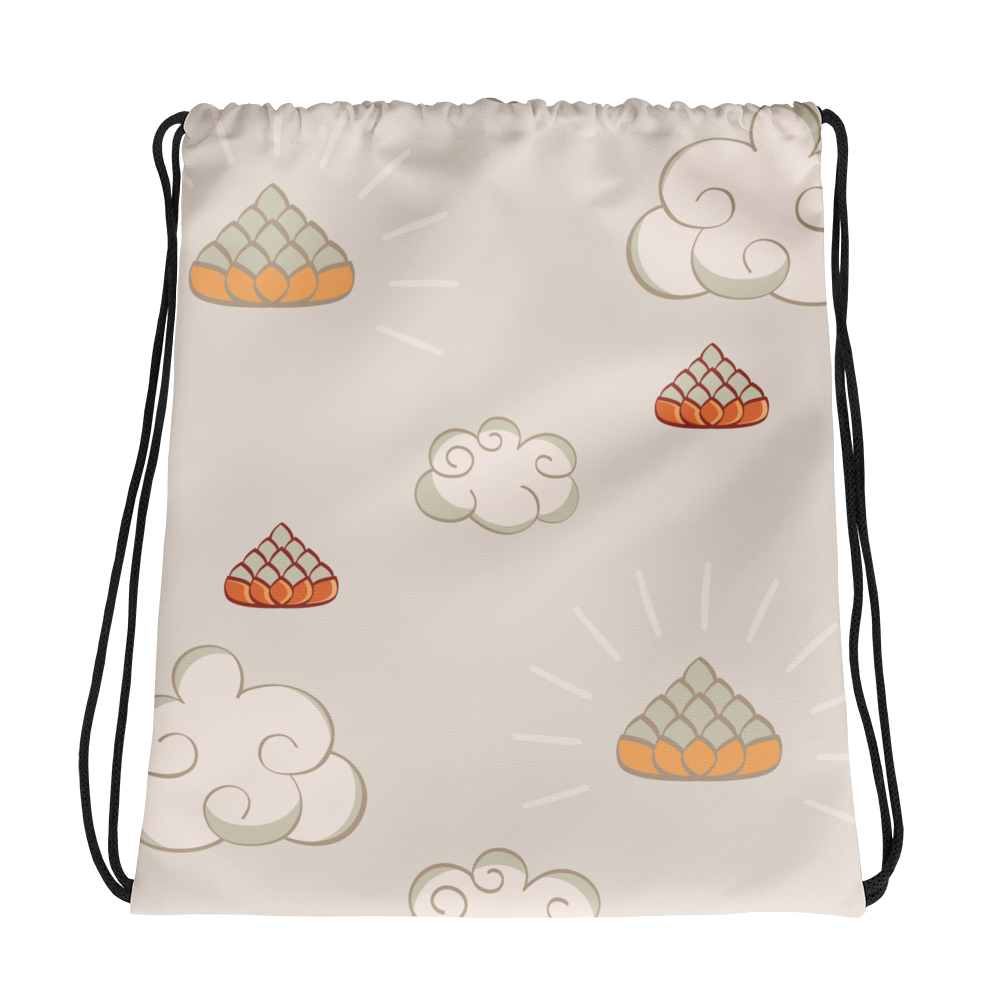 Yoga Cloud Drawstring bag