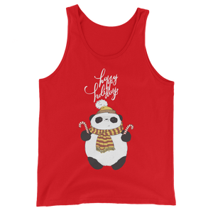 Happy Holiday Panda Men's Tank Tops