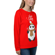 Load image into Gallery viewer, Happy Holiday Panda Women's Sweatshirt