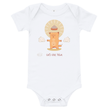 Load image into Gallery viewer, Cats Love Yoga Baby Bodysuit