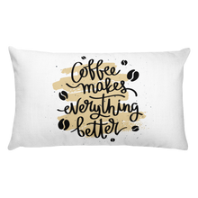 Load image into Gallery viewer, Coffee Makes Everything Better Premium Pillow
