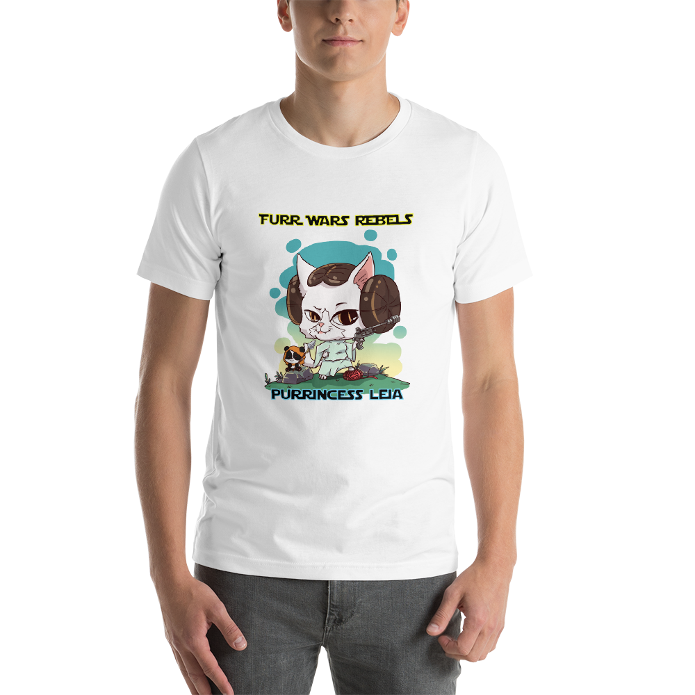 Purrincess Leia Men's Tee's