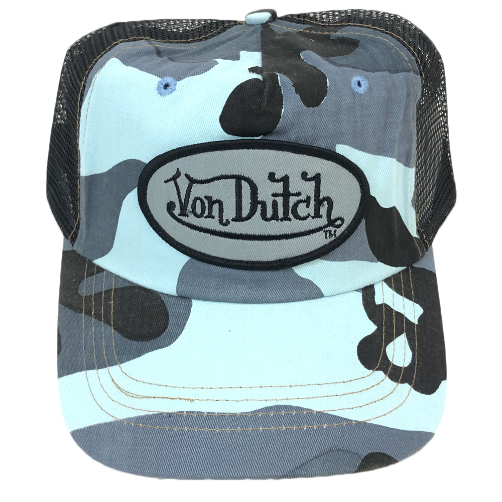 Vintage Von Dutch Trucker Hat BlueCamo/Black