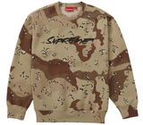 Supreme Futura Logo Crewneck Chocolate Chip Camo