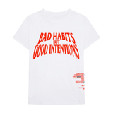 VLONE x NAV Bad Habits But Good Intentions Tee White