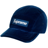 Supreme Velvet Camp Cap (FW20) Dark Teal