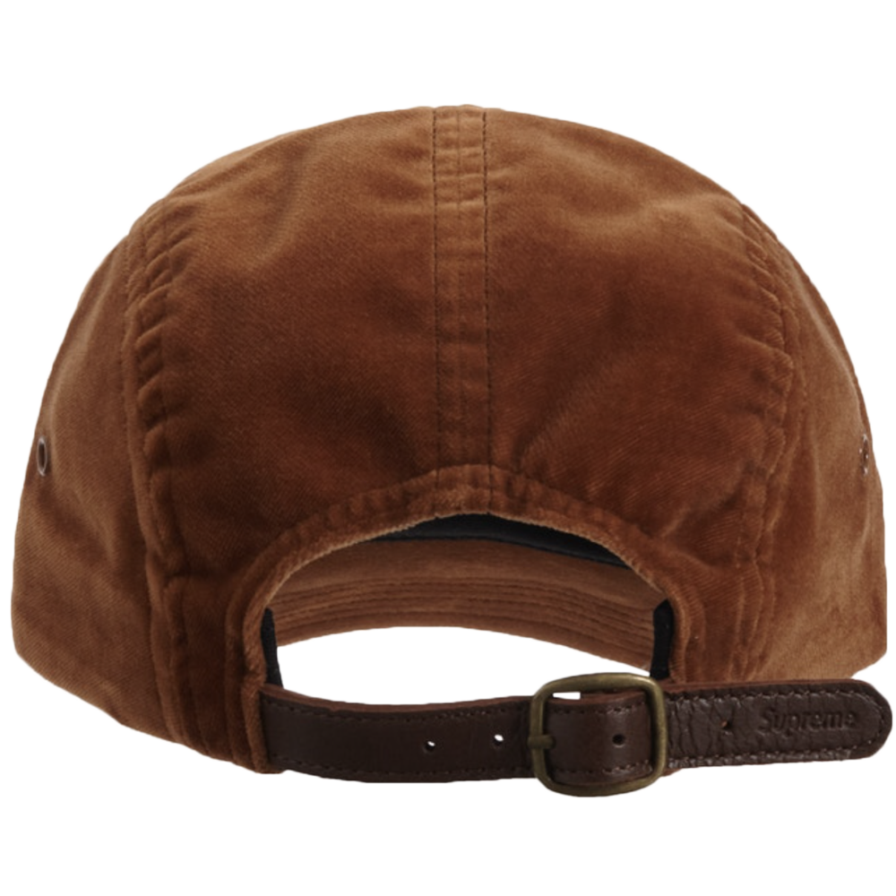 Supreme Velvet Camp Cap (FW20) Brown