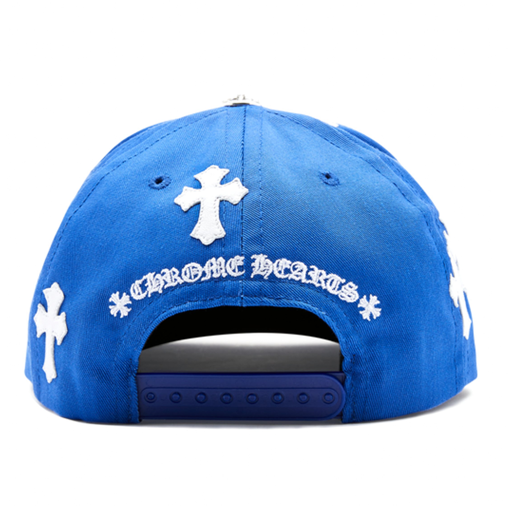 Chrome Hearts Cross Patch Baseball Hat Blue