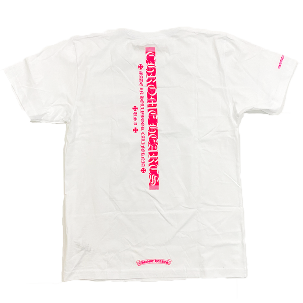 Chrome Hearts Made in Hollywood Tee White/Pink