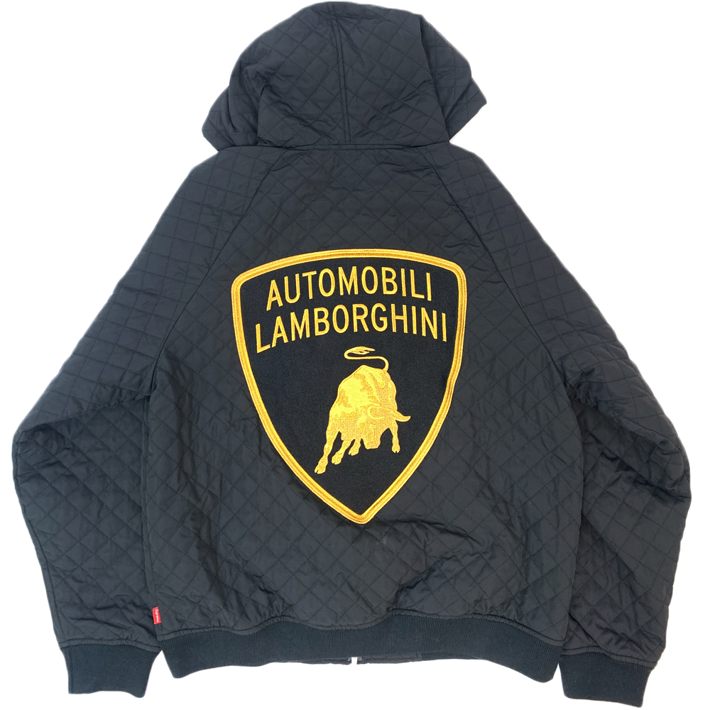 Supreme Automobili Lamborghini Hooded Work Jacket Black