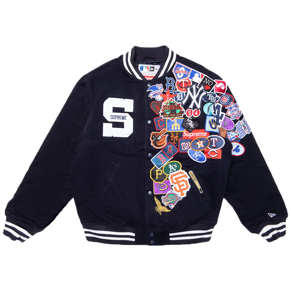 Supreme New Era MLB Varsity Jacket Navy