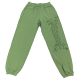 Revenge Army Green Flame Sweatpants