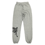 Revenge Embroidered Logo Sweatpants Gray