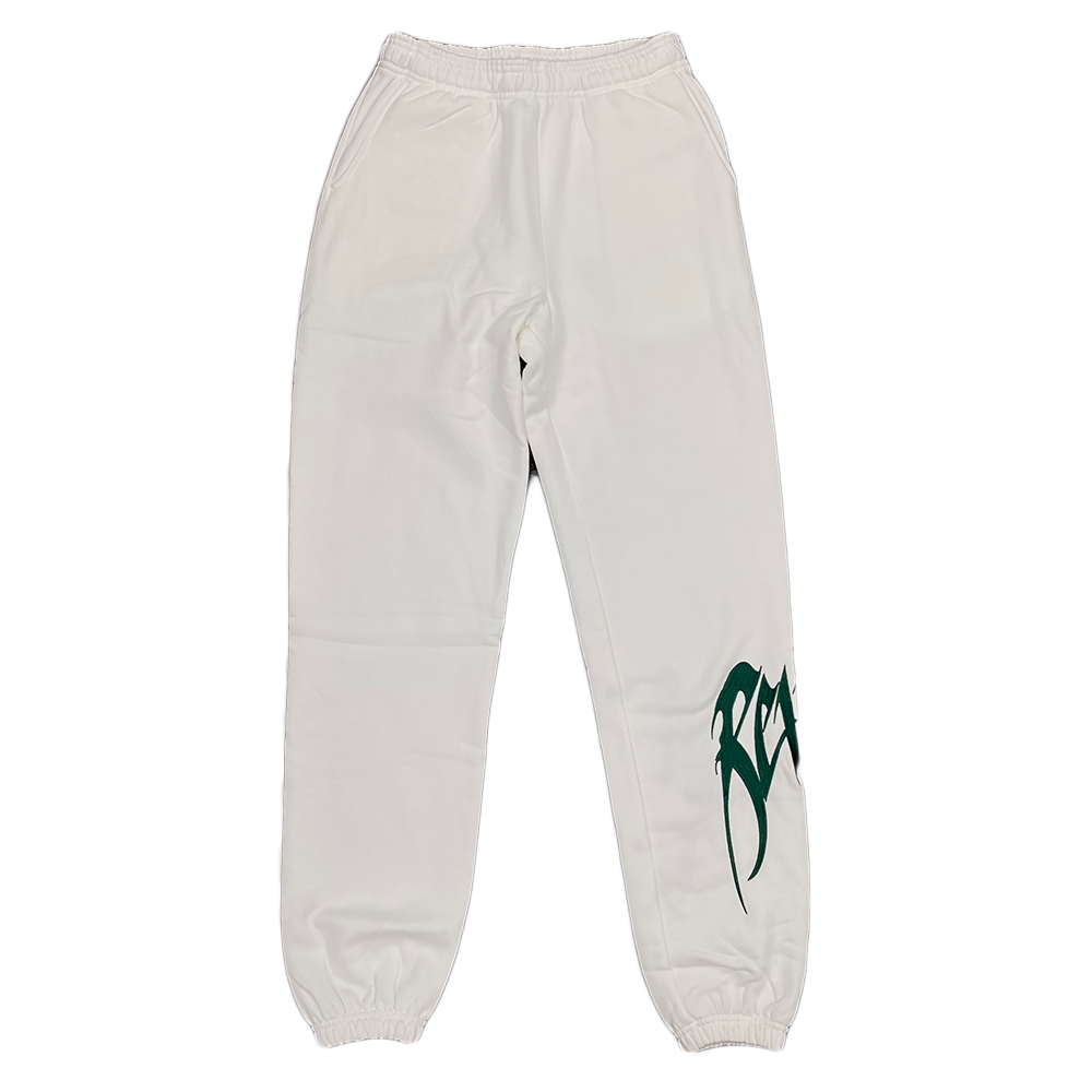 Revenge Embroidered Logo Sweatpants White