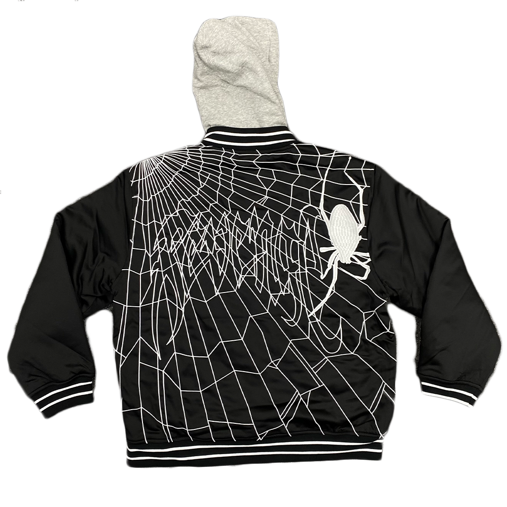Revenge Spider Bomber Jacket Black