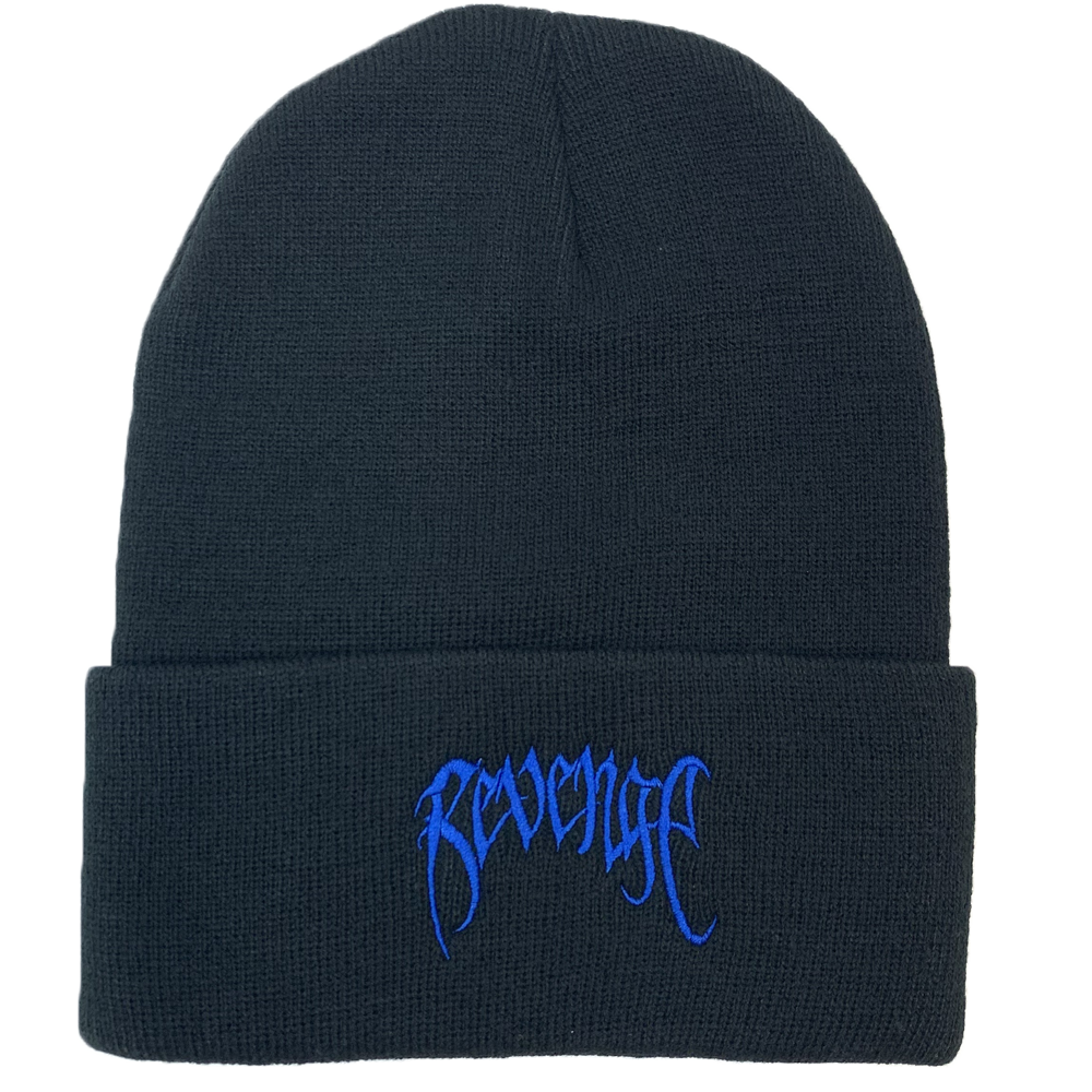Revenge Black Embroidered Logo Beanie